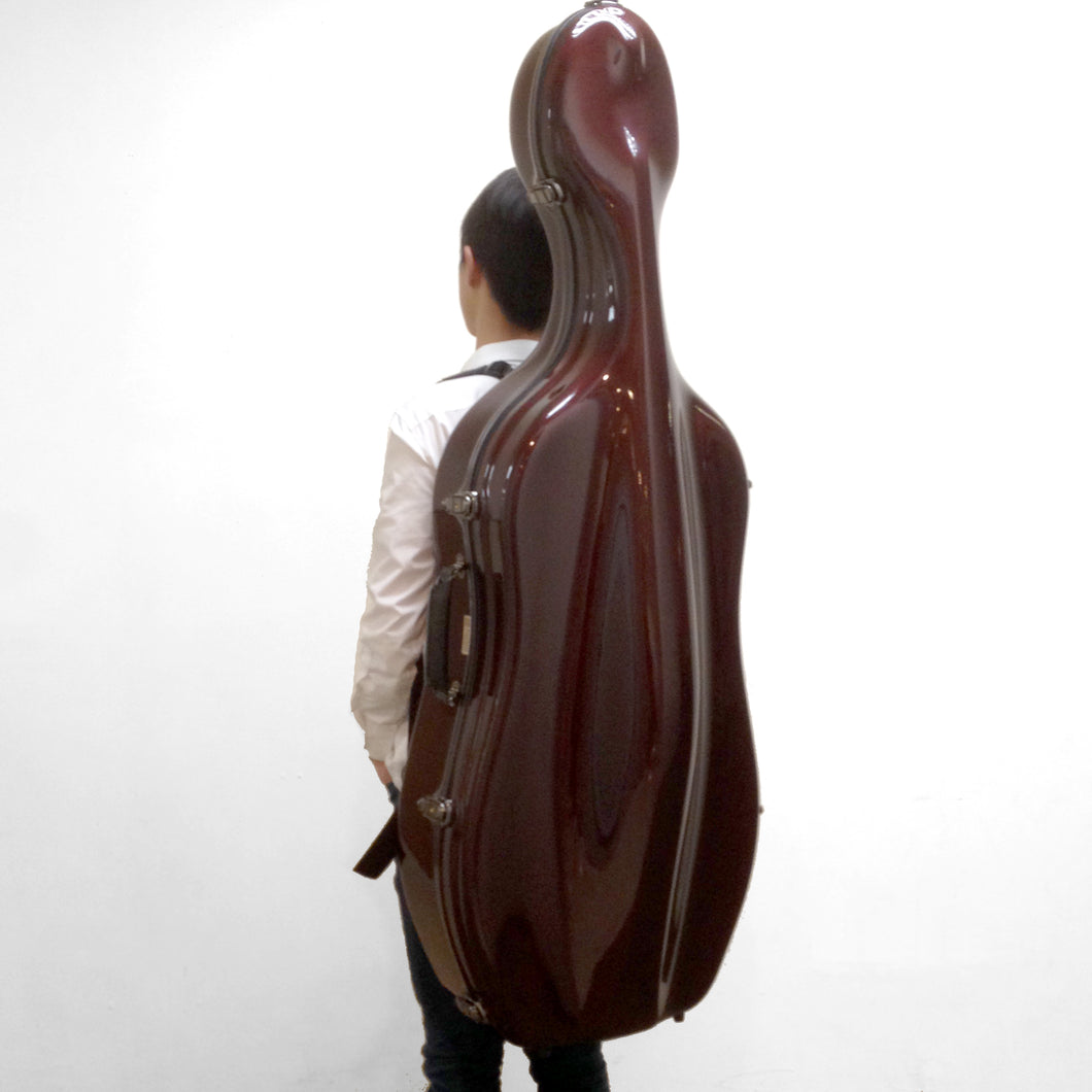 JW-EASTMAN Carbon Fiber Cello Case 2.9/Red Woved