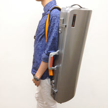 Load image into Gallery viewer, BAM Hightech LA DEFENSE Oblong Violin case/ Brushed Aluminum