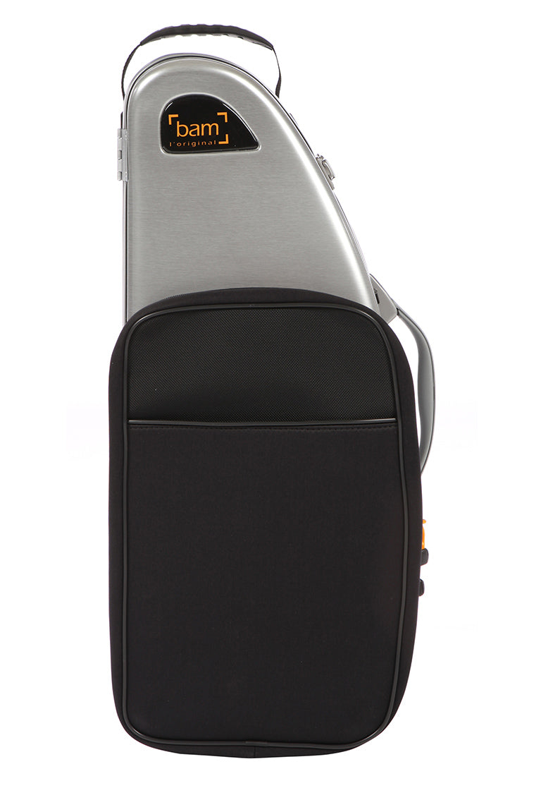 BAM Hightech LA DEFENSE Alto Sax case with poctet/ Brushed Aluminum