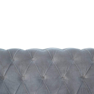 Seating Chesterfield Sofa | 2 Seater | Grey | Velvet
