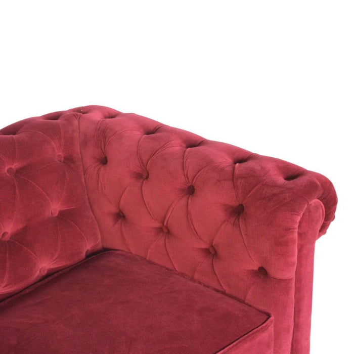 Seating Chesterfield Sofa | 2 Seater | Wine Red | Velvet