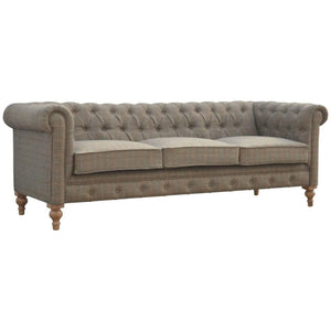 Seating Chesterfield Sofa | 3 Seater | Multi Tweed