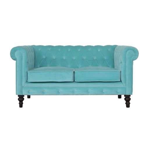 Seating Chesterfield Sofa | Aqua | Velvet