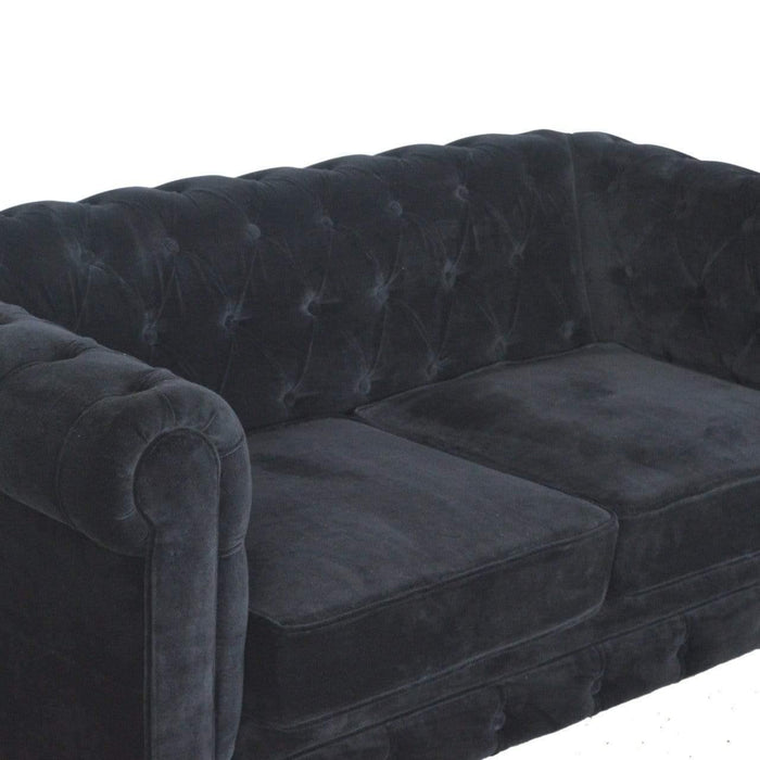 Seating Chesterfield Sofa | Black | Velvet