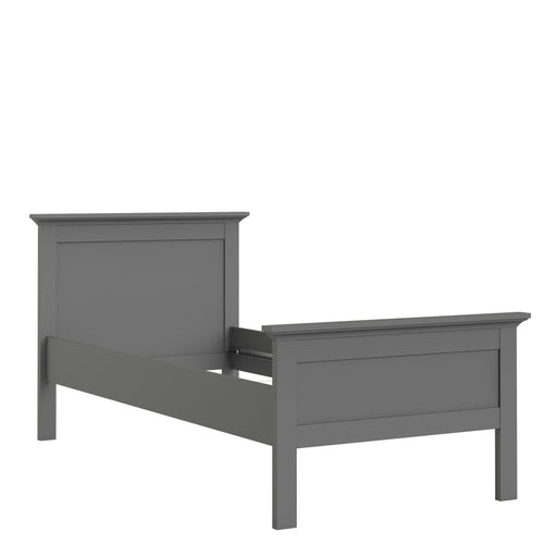Bed Paris Single Bed (90 x 200) in Matt Grey Matt Grey