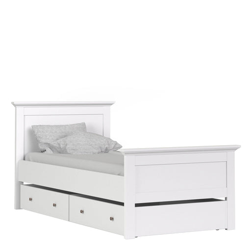 Bed Paris Underbed Storage Drawer | Single Bed | White