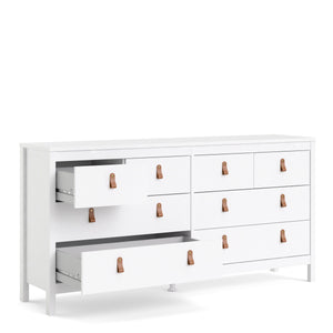 Cabinet Barcelona Double Dresser | 4+4 drawers | White or Matt Black
