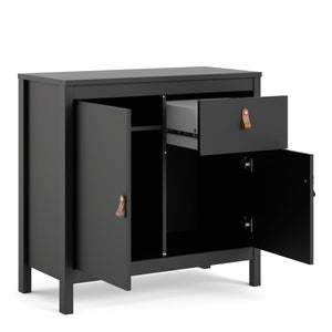 Cabinet Barcelona Sideboard | 2 doors + 1 drawer | White or Matt Black