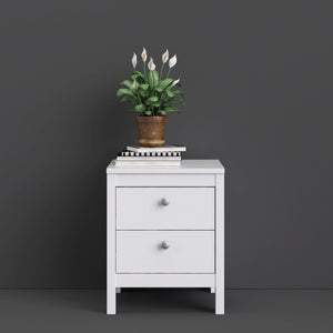 Cabinet Madrid | Bedside Table | 2 drawers | White
