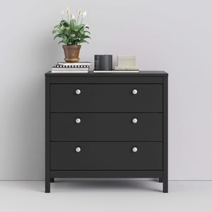 Cabinet Madrid | Chest | 3 drawers | Matt Black