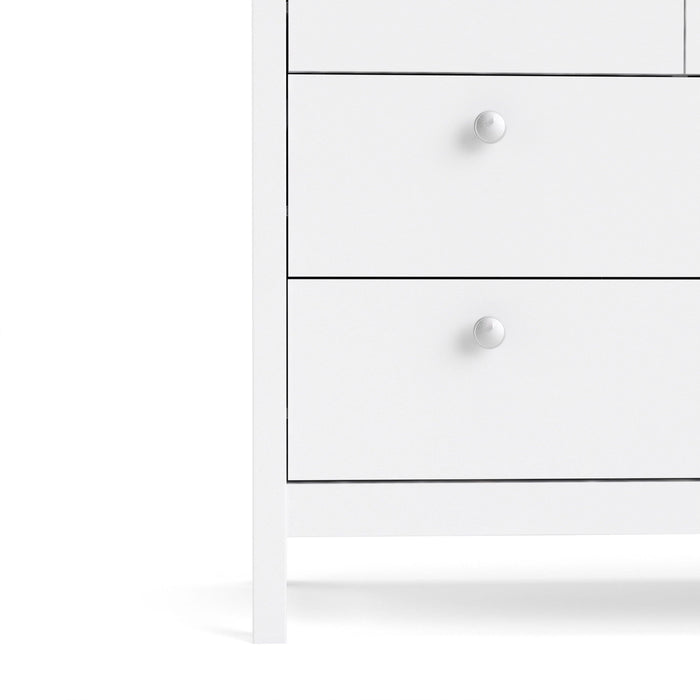 Cabinet Madrid | Double Dresser | 4+4 drawers | White