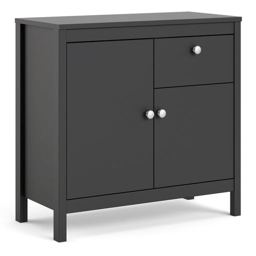 Cabinet Madrid | Sideboard | 2 doors | 1 Drawer | Matt Black