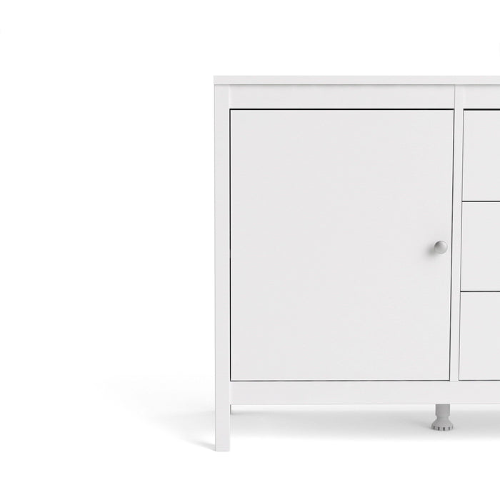 Cabinet Madrid | Sideboard | 2 Doors | 3 Drawers | White