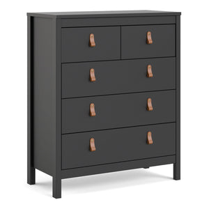 Cabinet Matt Black Barcelona Chest | 3+2 drawers | White or Matt Black