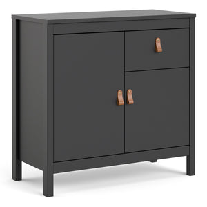 Cabinet Matt Black Barcelona Sideboard | 2 doors + 1 drawer | White or Matt Black