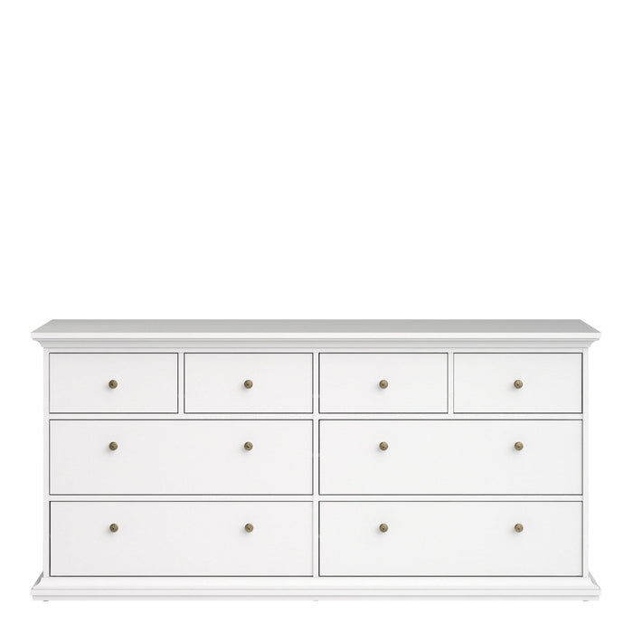 Cabinet Paris Chest of 8 Drawers | White