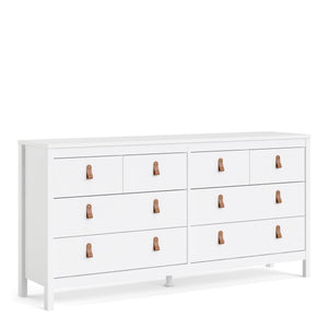 Cabinet White Barcelona Double Dresser | 4+4 drawers | White or Matt Black