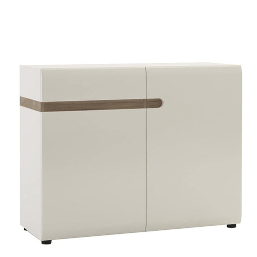 Chelsea 1 Drawer 2 Door Sideboard 109.5cm wide White with oak trim