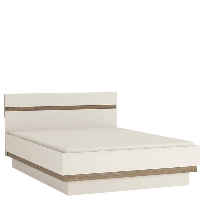 Chelsea Bed frame White with oak trim