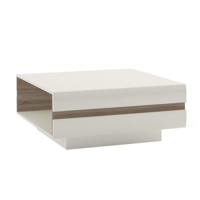 Table Chelsea Coffee Table | White with oak trim