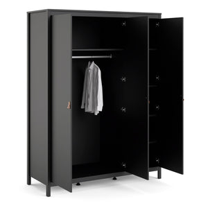 Wardrobe Barcelona Wardrobe | 3 doors | White or Matt Black