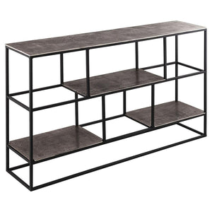 Bookcase Farrah | Cast Silver | Multi Shelf Unit