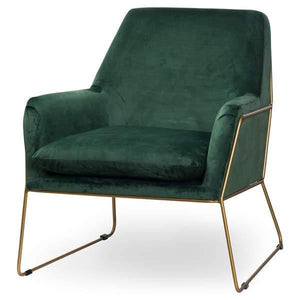 Kariss |  Emerald Green | Velvet | Club Chair