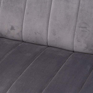 Seating Emperor | Grey | Velvet | 2 Seater Sofa