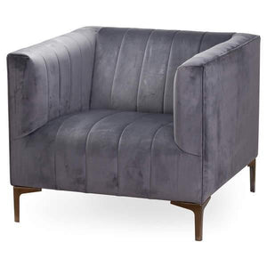 Seating Emperor | Grey | Velvet | Arm Chair