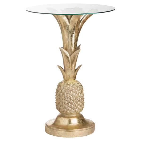 Ashby | Gold | Pineapple Design | Side Table