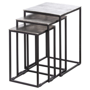 Table Farrah | Nest Of Three Tables | Cast Silver