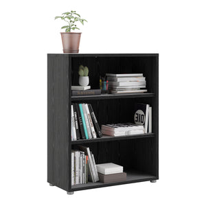 Bookcase Prima Bookcase | Black Woodgrain | 3 Sizes
