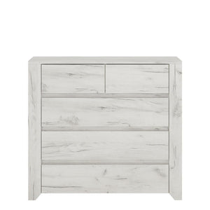 Cabinet Angel 2+3 Chest of Drawers | White Craft Oak