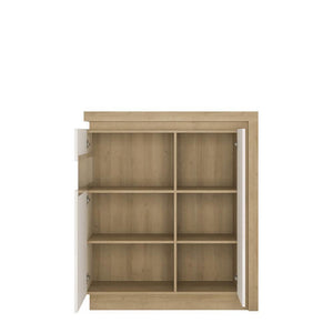 Cabinet Lyon Designer Cabinet | 2 Door | Left Hand | LED Lights | Two Styles