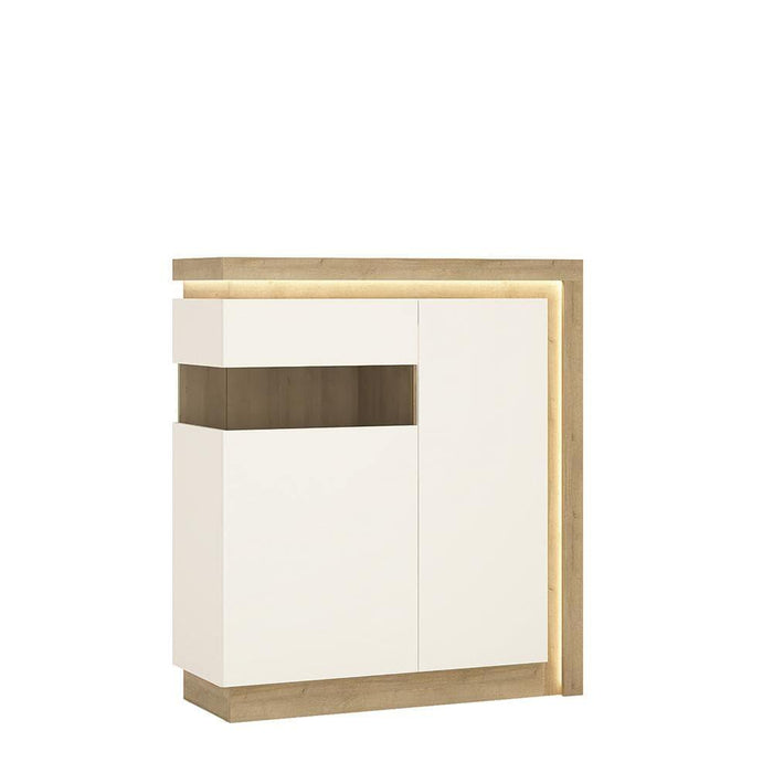 Lyon Designer Cabinet | 2 Door | Left Hand | LED Lights | Two Styles