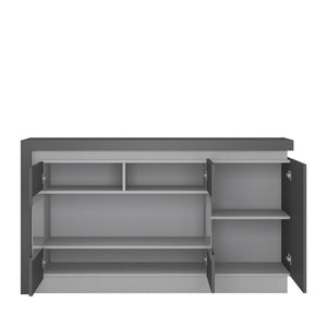 Cabinet Lyon Glazed Sideboard | 3 Doors | LED Lighting | Two Styles