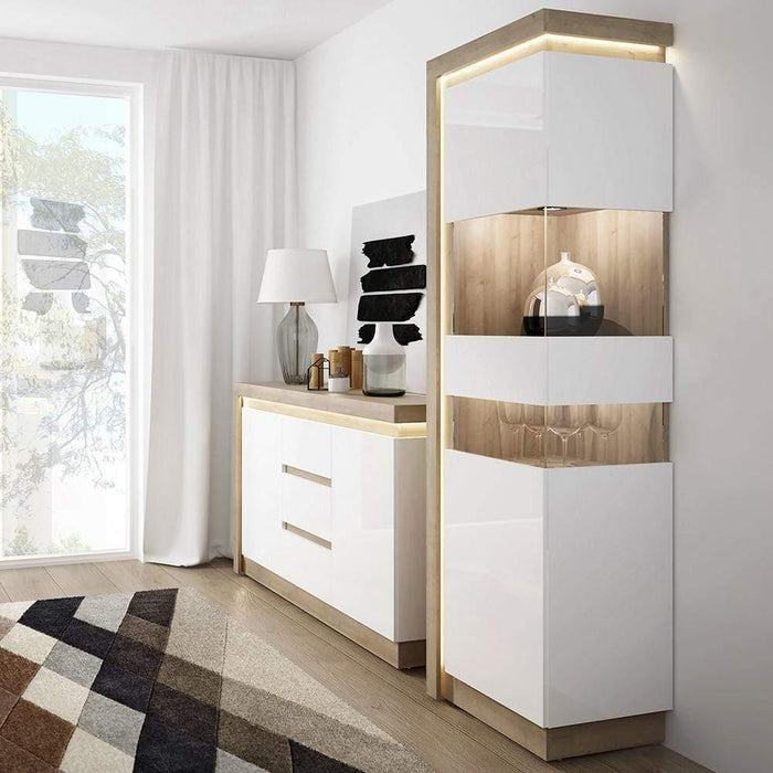 Cabinet Lyon Sideboard | 2 Door | 3 Drawer | LED Lighting | Two Styles