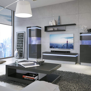 Cabinet Lyon TV cabinet | 1 Drawer | LED Lighting | Two Styles