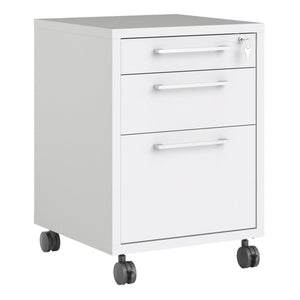 Cabinet White Prima | Filing Cabinet | 4 Wheels | 3 Colours