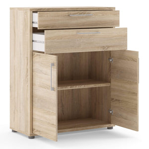 Prima | Bookcase | 2 Shelves | 2 Drawers |2 Doors | 3 Colours