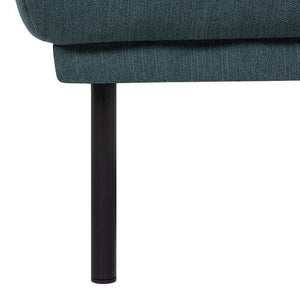 Seating Black Legs Larvik Footstool | Dark Green | Black or Oak Legs