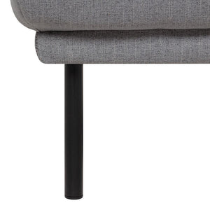 Seating Black Legs Larvik Footstool | Grey | Black or Oak Legs