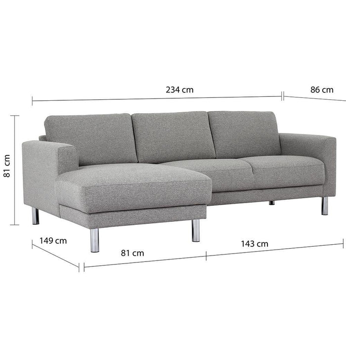 Seating Cleveland Chaise Longue Sofa Left Hand | Light Grey or Antracit