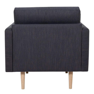 Seating Larvik Armchair | Antracit | Black or Oak Legs
