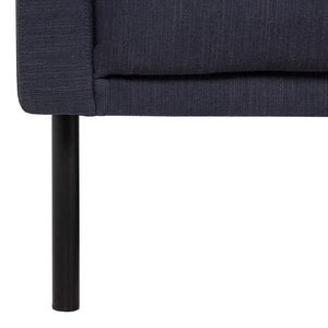 Seating Larvik Chaiselongue Sofa | Right Hand | Antracit | Black or Oak Legs