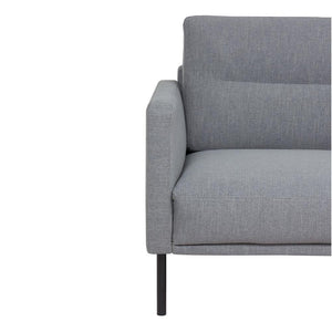 Seating Larvik Chaiselongue Sofa | Right Hand | Grey | Black or Oak Legs
