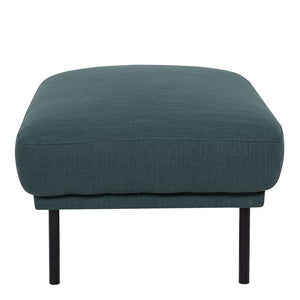 Seating Larvik Footstool | Dark Green | Black or Oak Legs