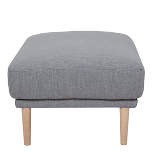 Seating Larvik Footstool | Grey | Black or Oak Legs