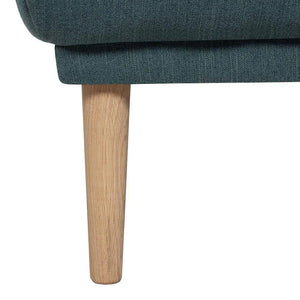 Seating Oak Legs Larvik Footstool | Dark Green | Black or Oak Legs