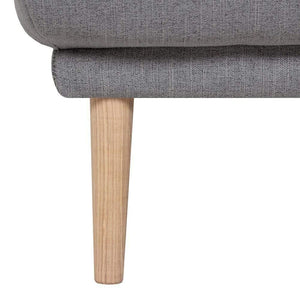 Seating Oak Legs Larvik Footstool | Grey | Black or Oak Legs